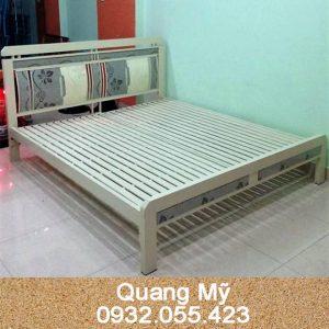 Giường sắt hộp vuông cao cấp 1m4 x 2m