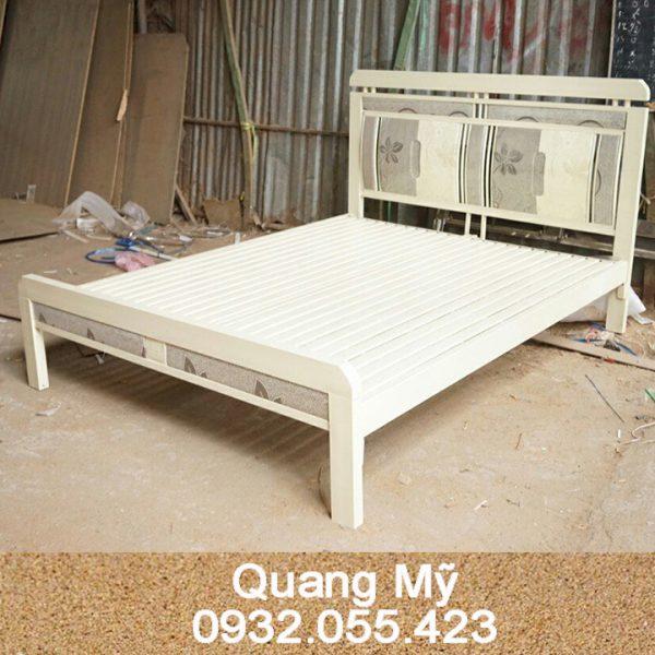 Giường sắt hộp vuông cao cấp
