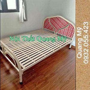 Giường sắt giá rẻ rộng 1m4 x 2m