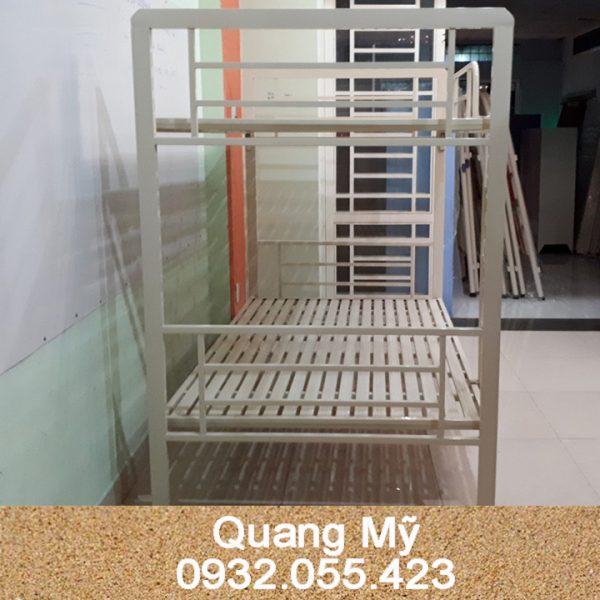 Giường tầng sắt hộp vuông cao cấp 1m2 x 2m