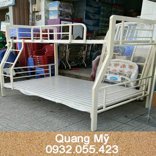 Giường tầng sắt hộp vuông trẻ em 1m4 x 1m6