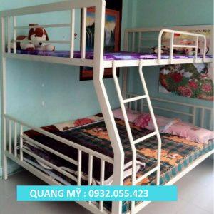 Giường tầng sắt hộp vuông trẻ em 1m4 x 1m8