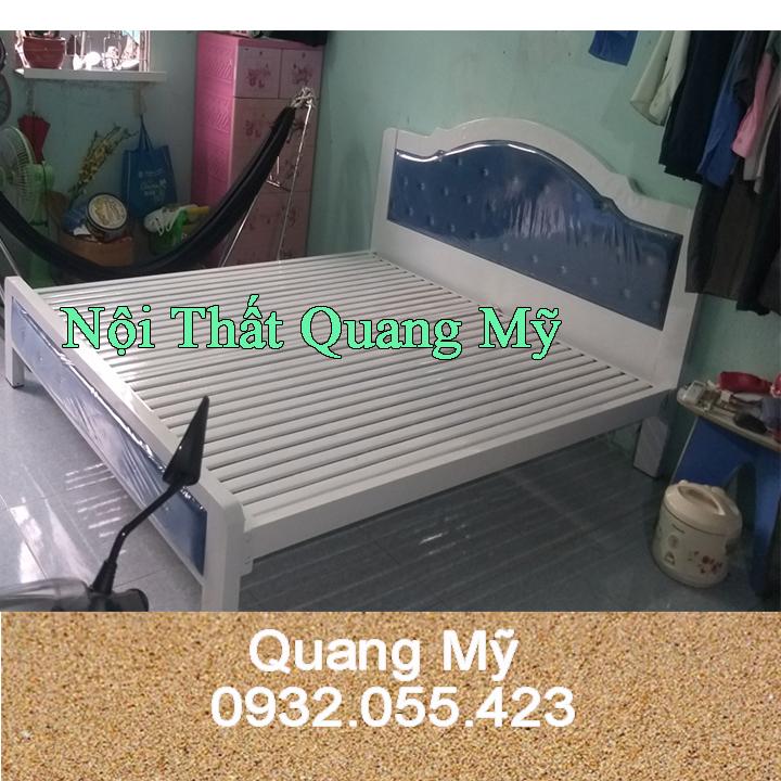 Giường sắt 1m6 đẹp HCM