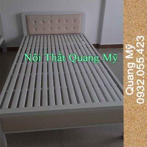 Giường sắt 1m2 hộp vuông giá rẻ