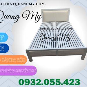 Giường sắt 1m4 hộp màu trắng