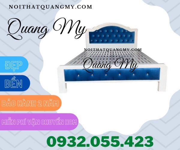 Giường sắt 1m6 hộp cao cấp giá rẻ HCM