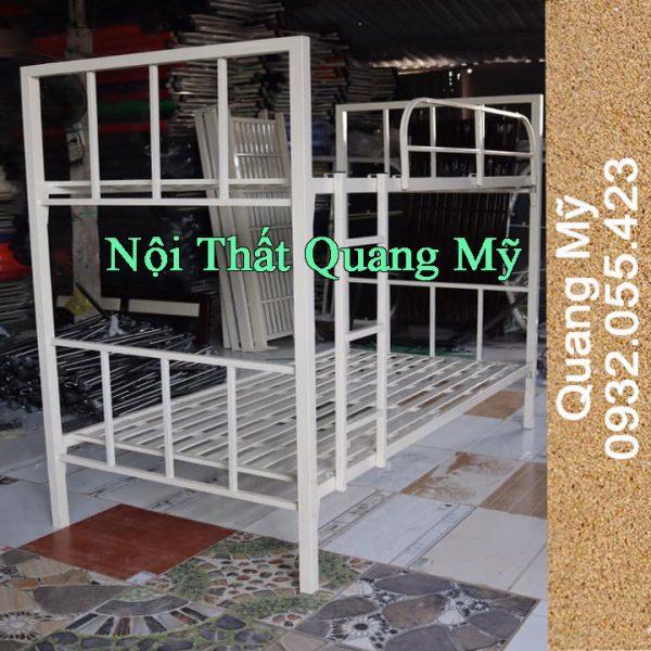 Giường tầng sắt hộp giá rẻ 1m2x2m