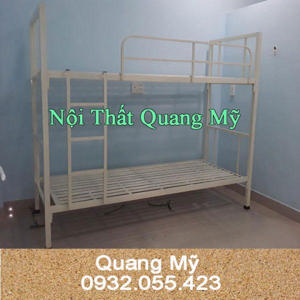 Giường tầng sắt hộp vuông giá rẻ 0.8m x 2m